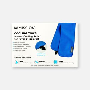Mission Fever Relief Cooling Towel, Electric Blue Lemonade