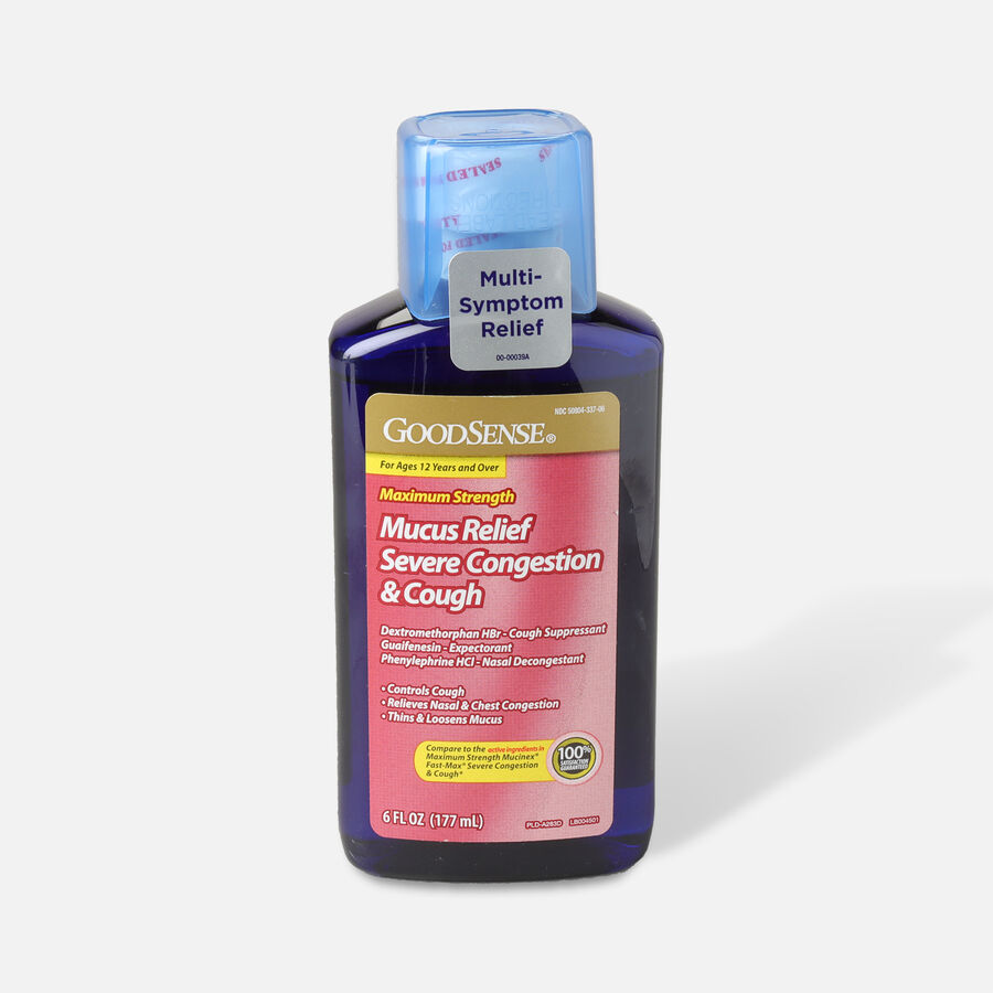 GoodSense® Mucus Relief & Severe Congestion & Cough, 6 fl oz, , large image number 0