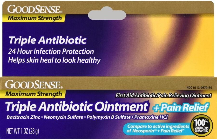 GoodSense® Max Strength Triple Antibiotic Ointment+ Pain Relief, 1 oz, , large image number 0