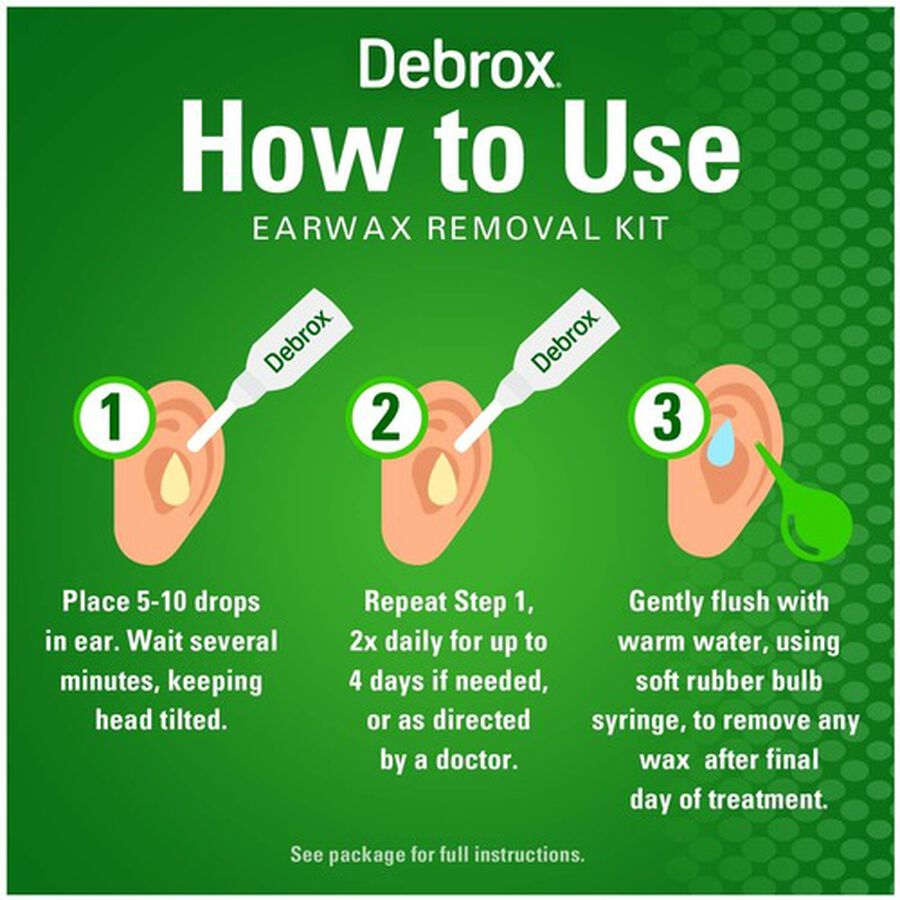 Debrox Earwax Removal Kit, , large image number 3