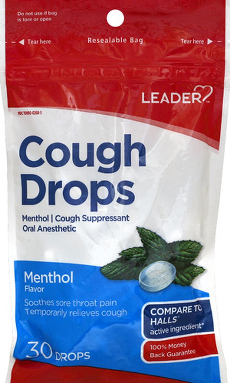 LEADER™ Cough Drops Menthol 30 ct, , large image number 0