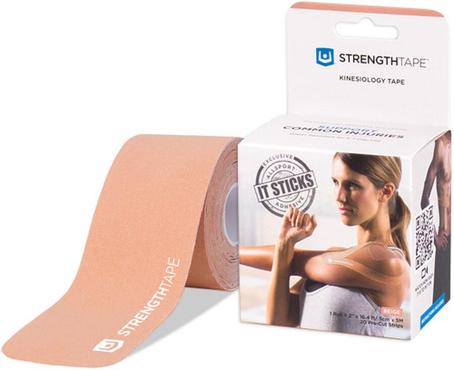 StrengthTape Kinesiology Precut Tape, Beige, 20 ct, , large image number 0