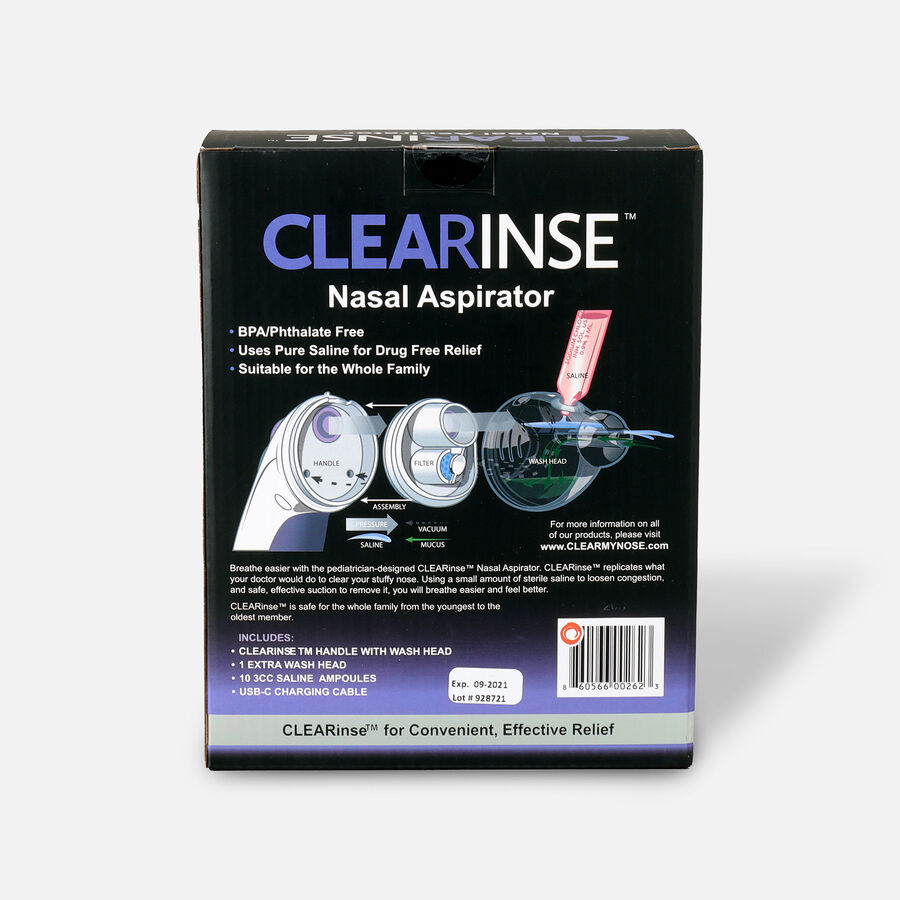 CLEARinse Nasal Cleaning Aspirator Starter Kit – Nasal Congestion Relief, , large image number 2