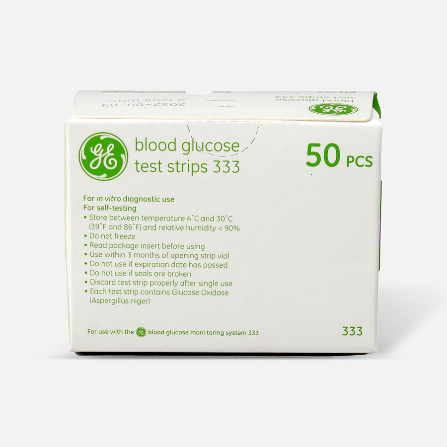 GE333 Blood Glucose Test Strips, 50 CT, , large image number 1