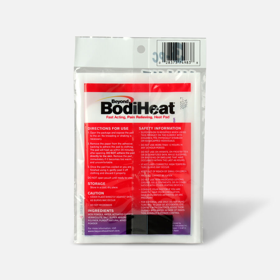 Beyond BodiHeat Fast Acting, Pain Relieving Heat Pads, 3 Pack, , large image number 1