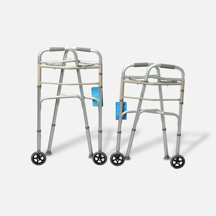 "Carex Adult Dual Paddle Walker 5"" Wheels and Glides, , large image number 1"