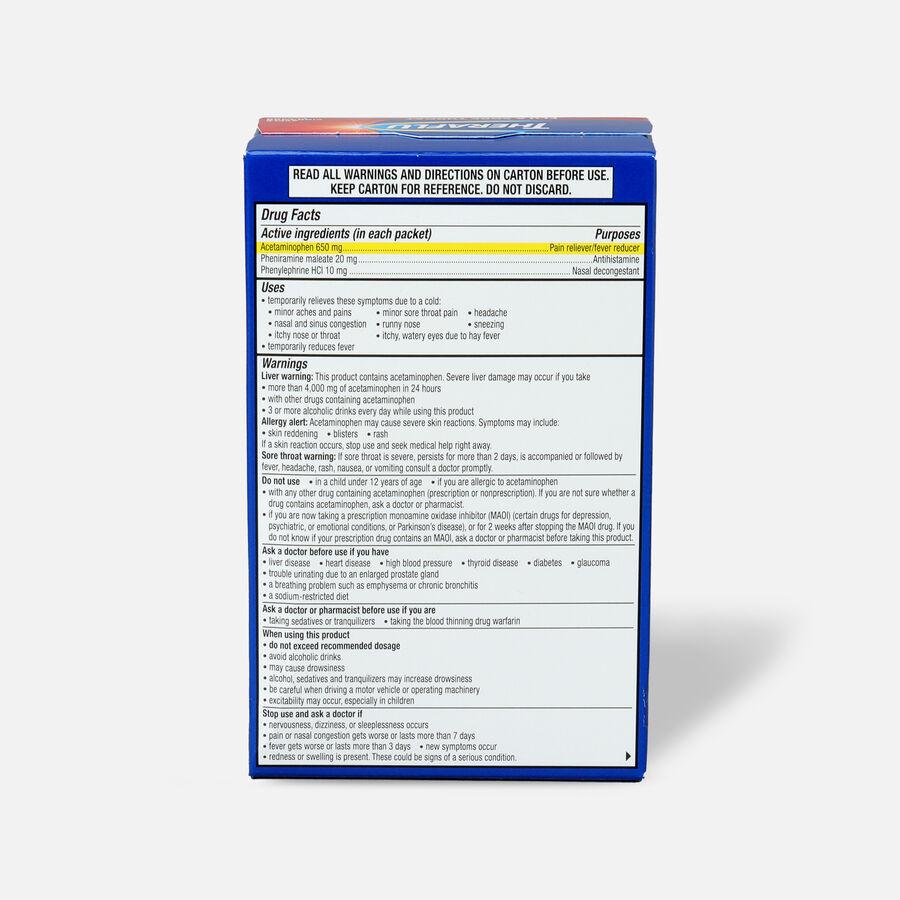 Theraflu Flu & Sore Throat Powder, Apple Cinnamon, 6 ct, , large image number 1