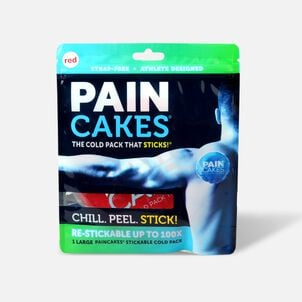 """PainCakes Stick & Stay Cold Packs. 5"""", Red"""