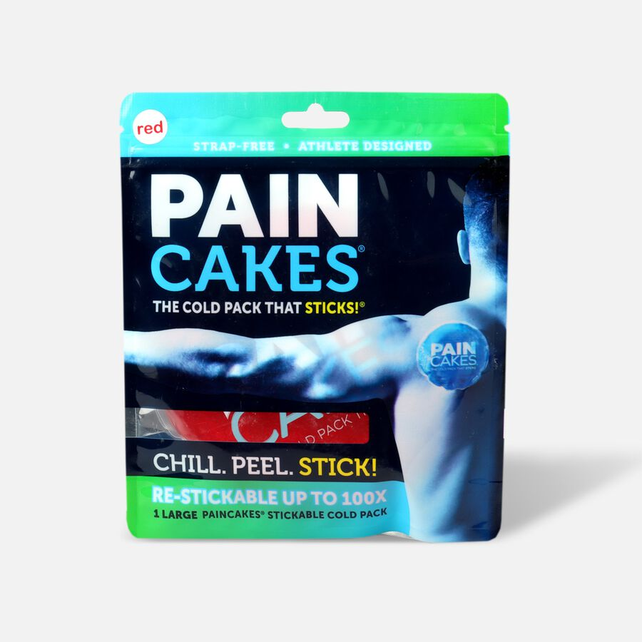 """PainCakes Stick & Stay Cold Packs. 5"""", Red, , large image number 0"""