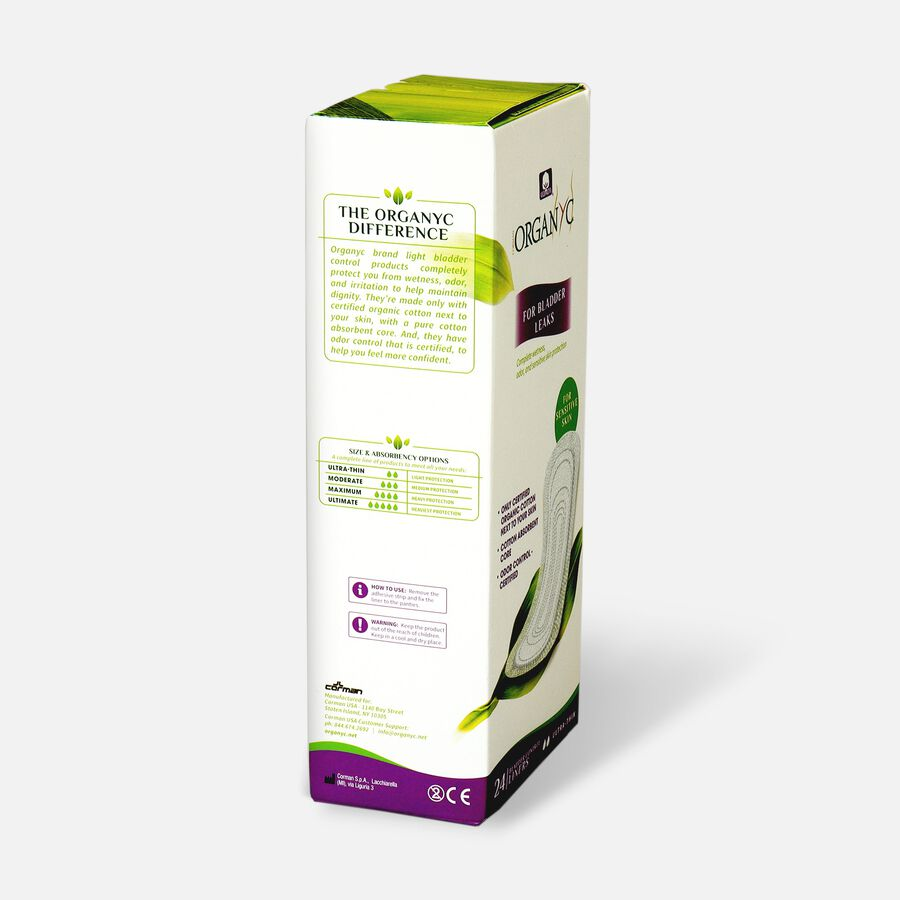 Organyc Bladder Control Ultra Thin Liners, 24ct, , large image number 3