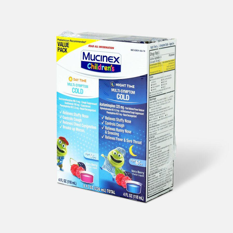 Mucinex Children's Multi-Symptom Liquid Day Night 4 oz - 2-Pack, , large image number 2