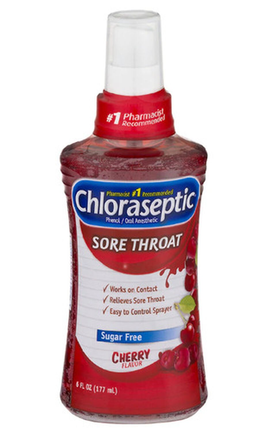 Chloraseptic, Cherry, Sore Throat Spray, 6oz, , large image number 0