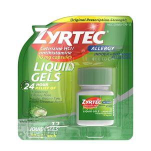 Zyrtec Allergy Liquid Caps