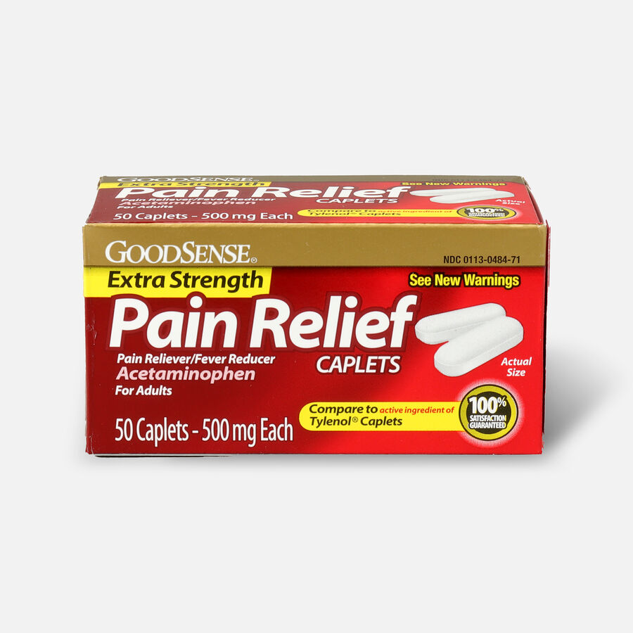 GoodSense® Pain Relief Extra Strength 500 mg Caplets, 50 ct, , large image number 0
