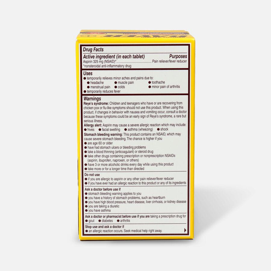 Genuine Bayer Aspirin, 325mg Tablets, 100 ea, , large image number 1