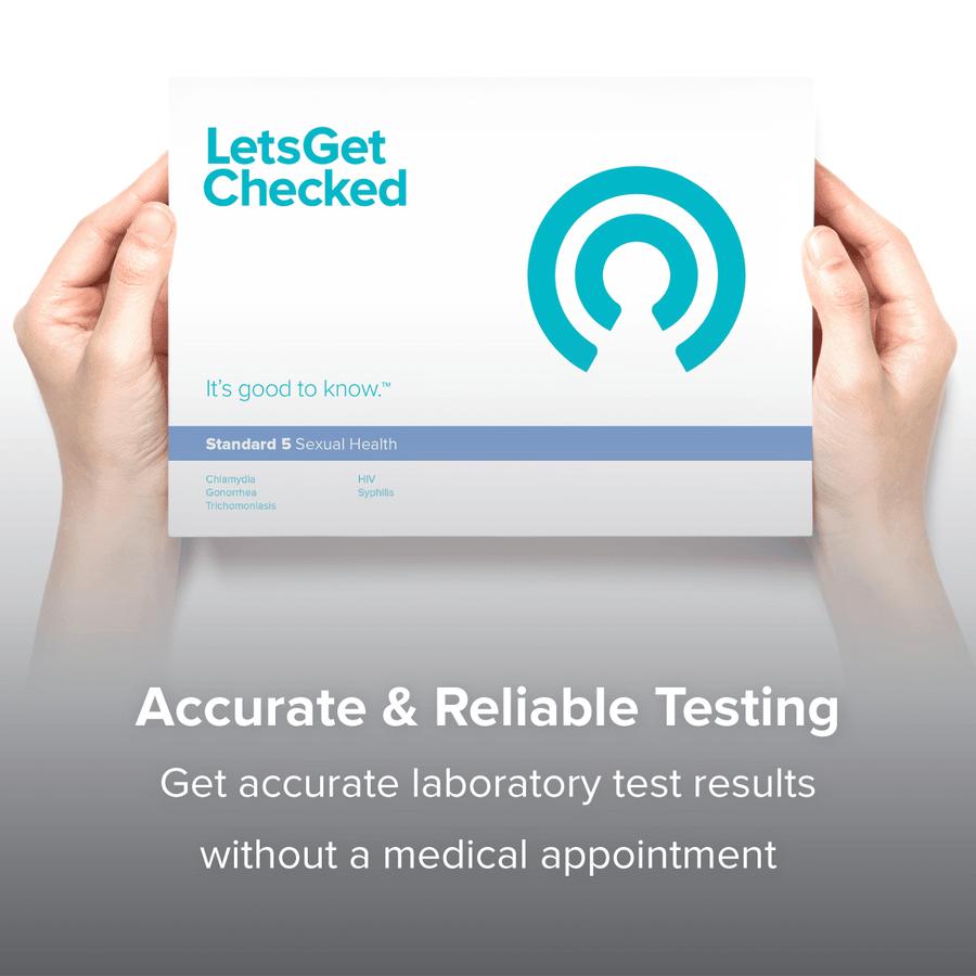 LetsGetChecked Standard 5 at Home STD Test, , large image number 6