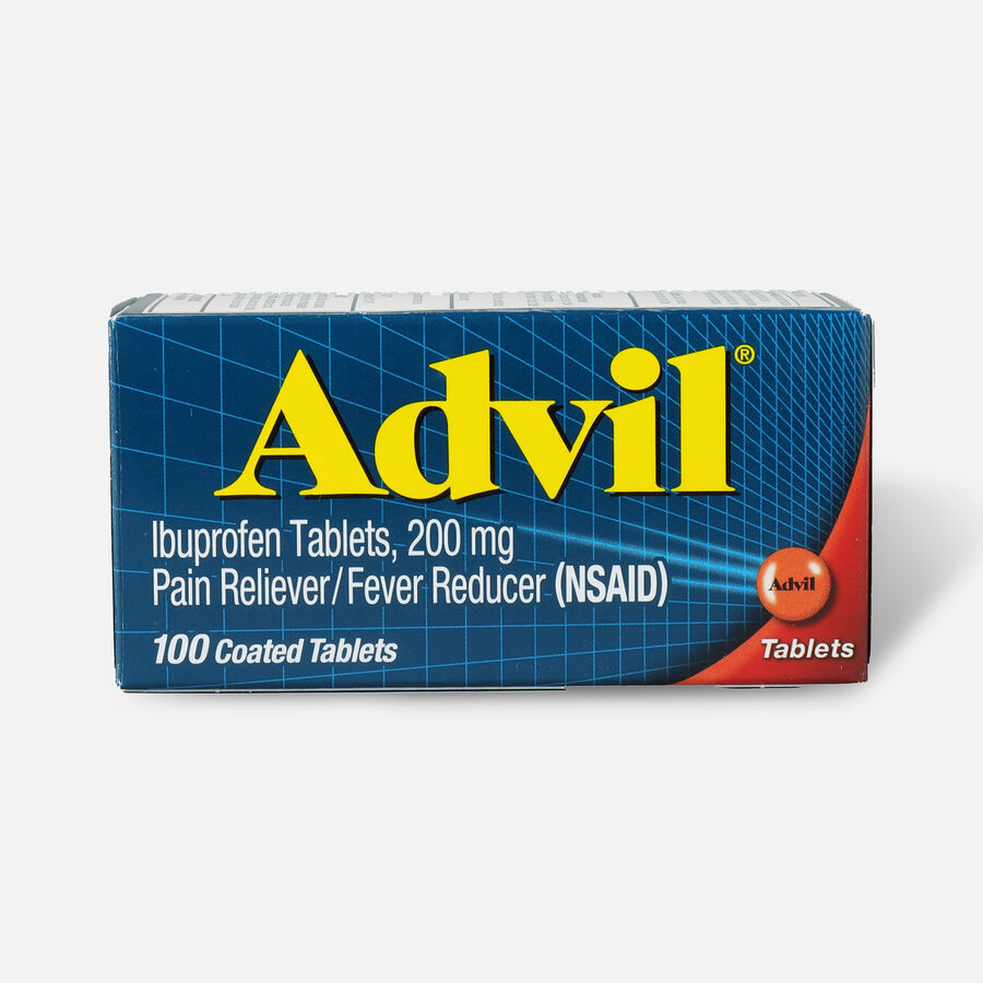 Advil Pain Reliever Fever Reducer Tablets, 100 ct, , large image number 1