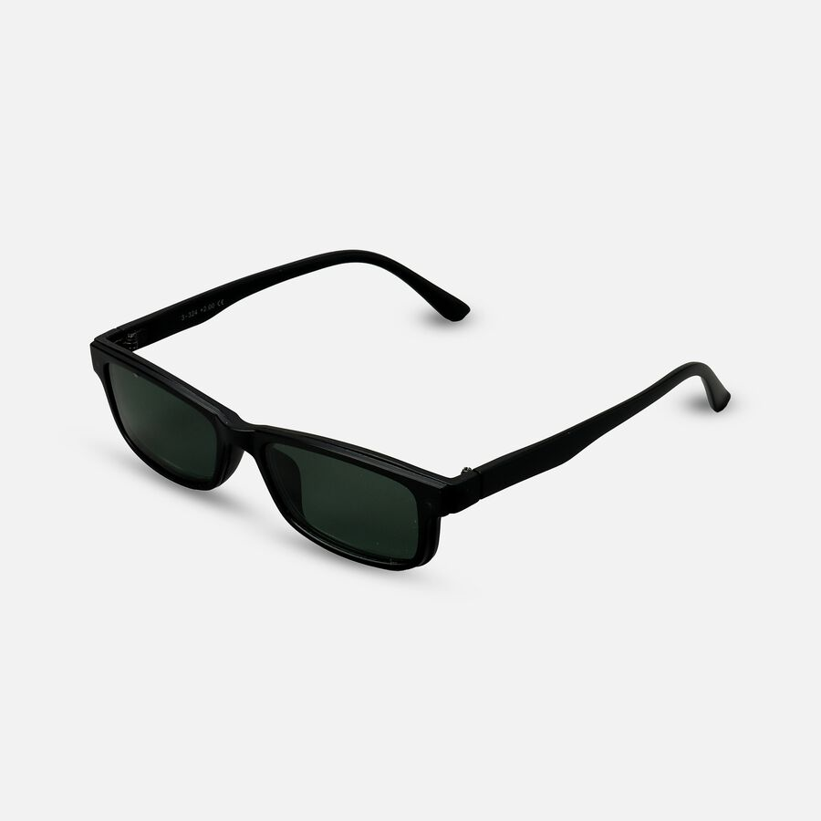 Sunglass Reader with Magnetic Detachable Polarized Lens, +2.00, Black/G15, , large image number 1