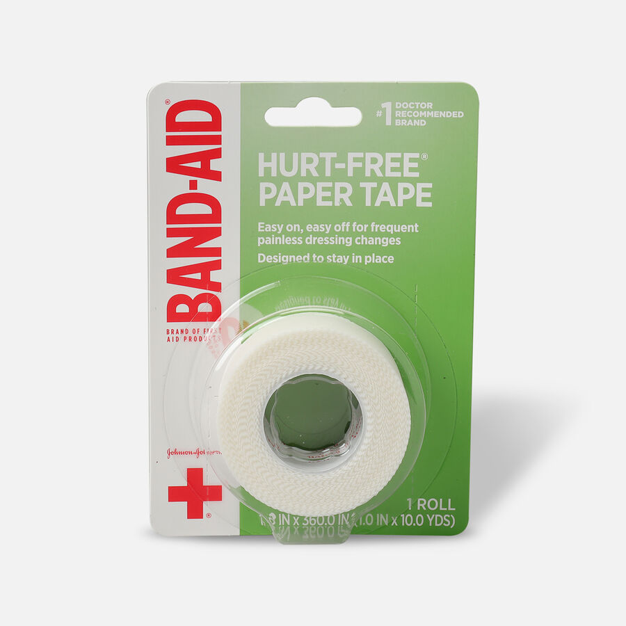 """BAND-AID® HURT-FREE® Paper Tape, 1"""" x 10yds - 1 roll, , large image number 0"""