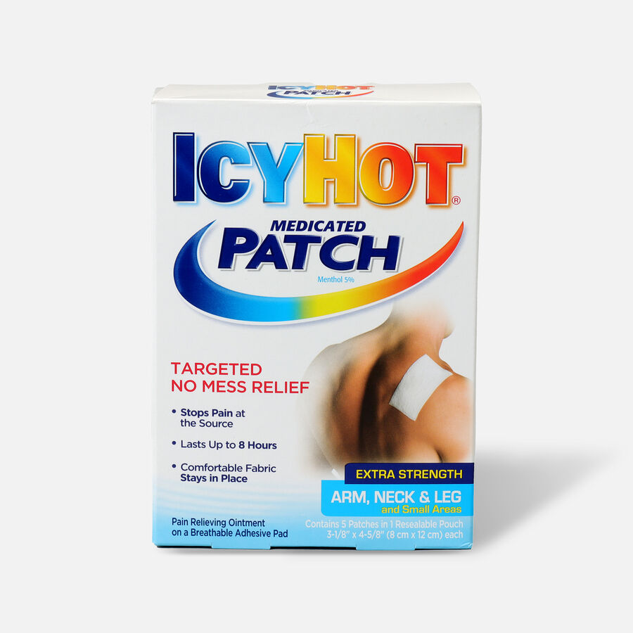 Icy Hot Extra Arms Neck Leg Patch, 5 ea, , large image number 0