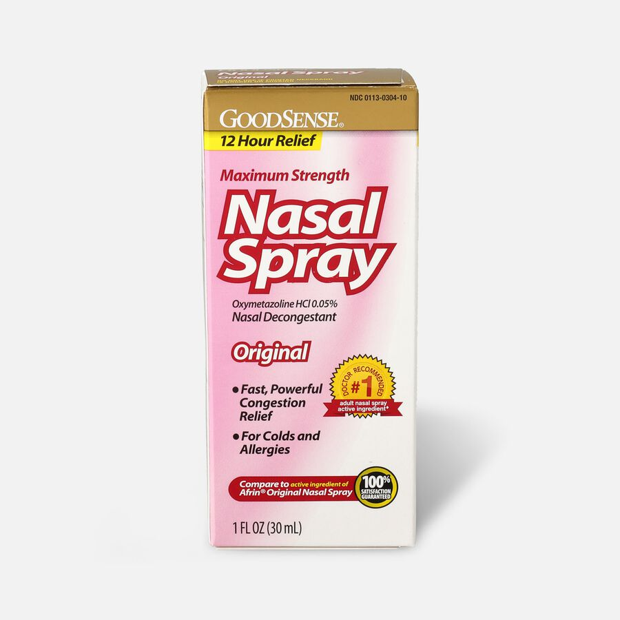 GoodSense® Oxymetazoline HCl 0.05% Nasal Allergy Spray for Sinus Relief and Allergy Relief, , large image number 0