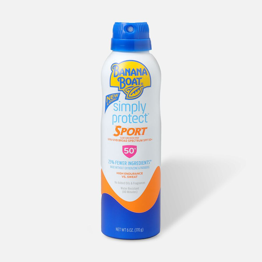 Banana Boat Simply Protect Sport Sunscreen Spray SPF 50+, 6oz., , large image number 0