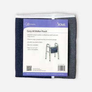 Mabis Universal Walker Single Pocket Carry-All Pouch, Blue Denim