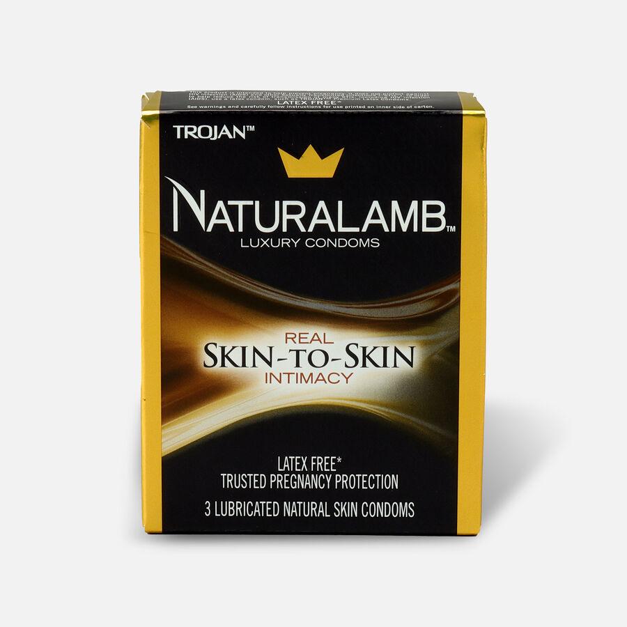 Trojan Condoms Trojan Naturalamb Skin 3 Pack Condoms, , large image number 0