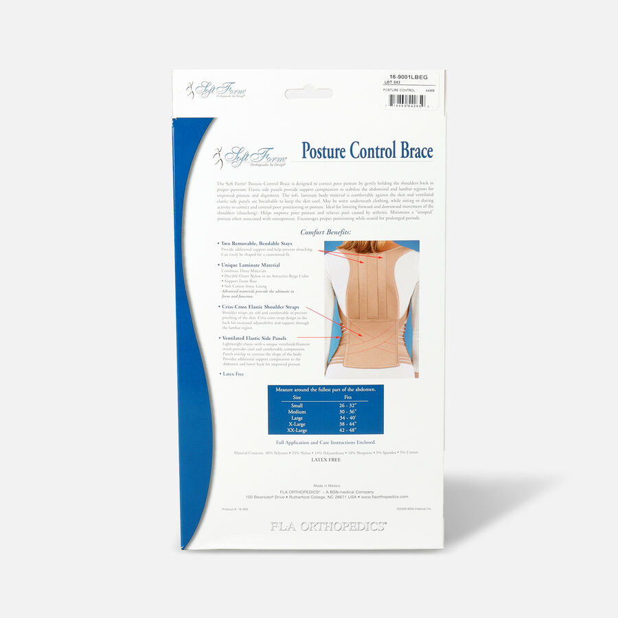"Fla Orthopedics SoftForm Posture Control Brace XL 38/44"", , large image number 1"
