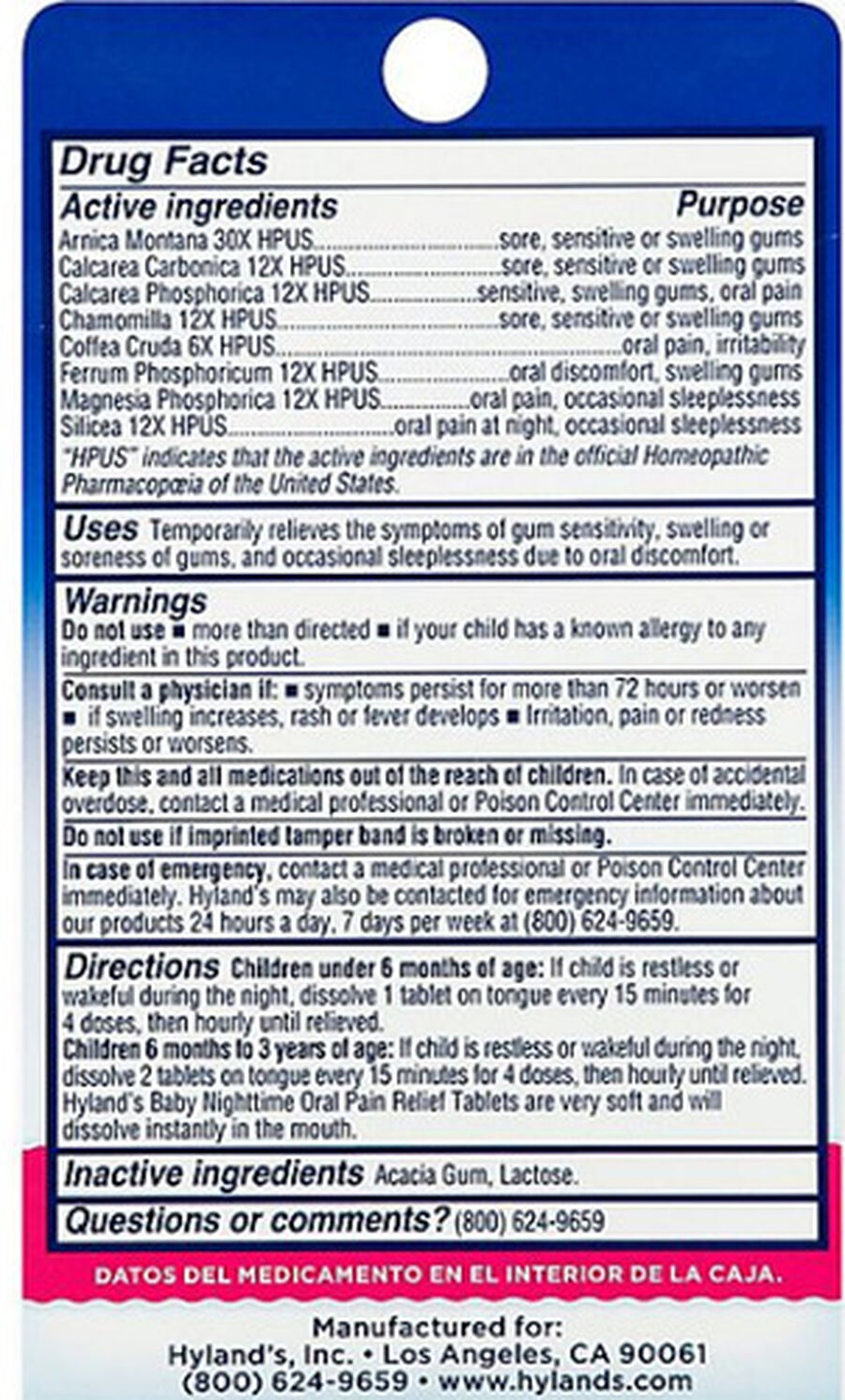 Hyland's Baby Oral Pain Relief Tablets, 125 ct, , large image number 1