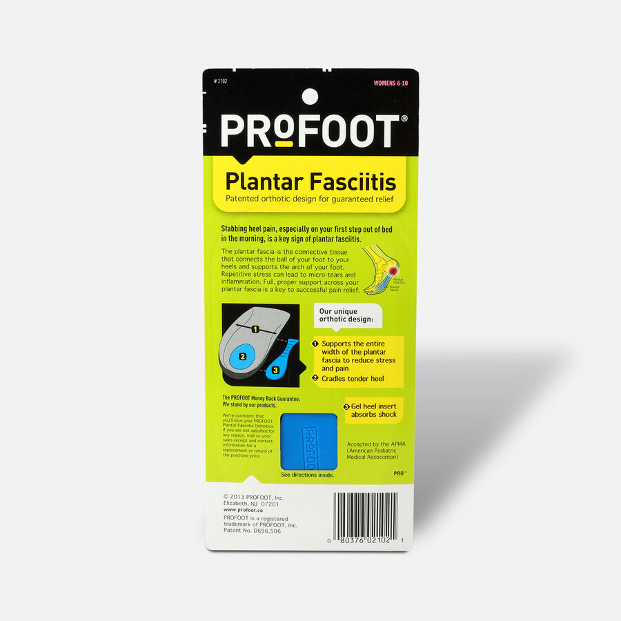 ProFoot Plantar Fasciitis Insoles for Women 1 ea, , large image number 1