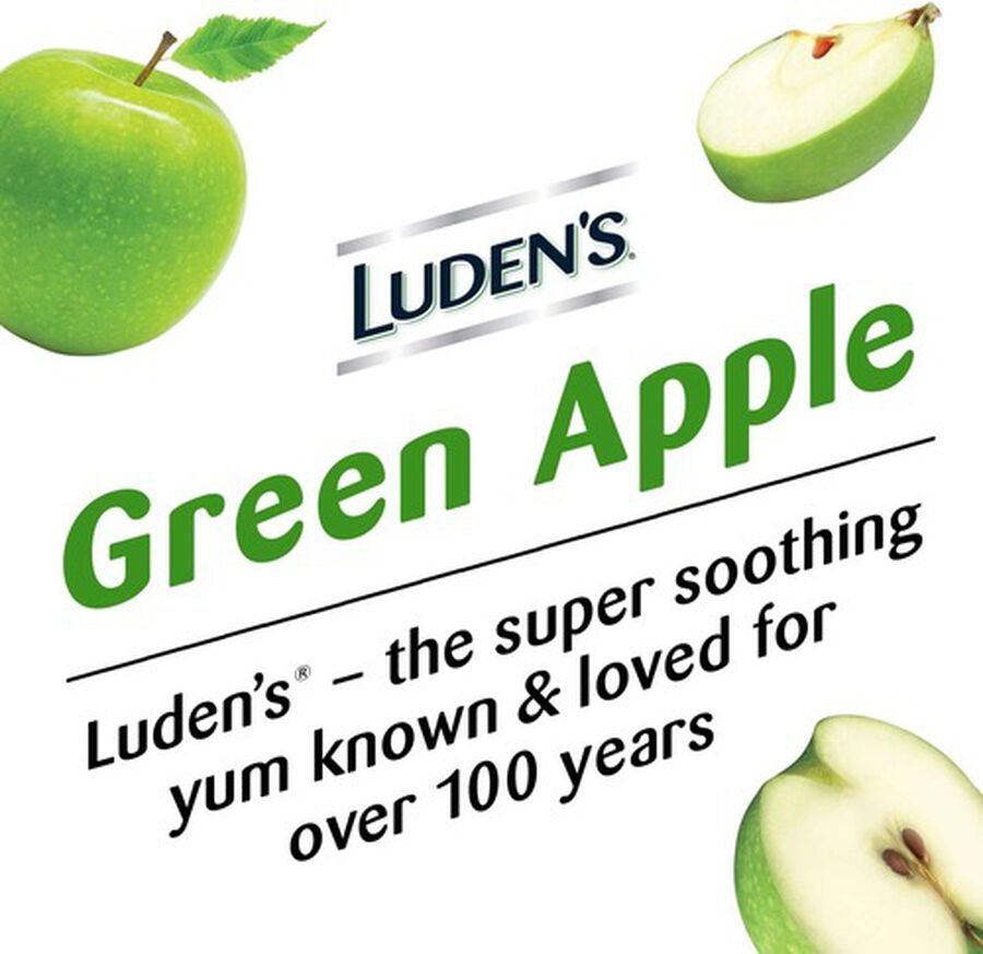 Luden's Green Apple Throat Drops, 25 ct., , large image number 3