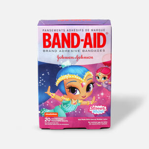 Band-Aid Adhesive Assorted Bandages, Nickelodeon Shimmer and Shine, 20 ct.