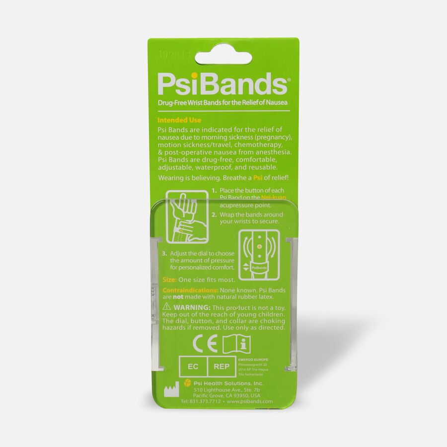 Psi Bands Nausea Relief Wrist Bands - Crystal Clear, Crystal Clear, large image number 1
