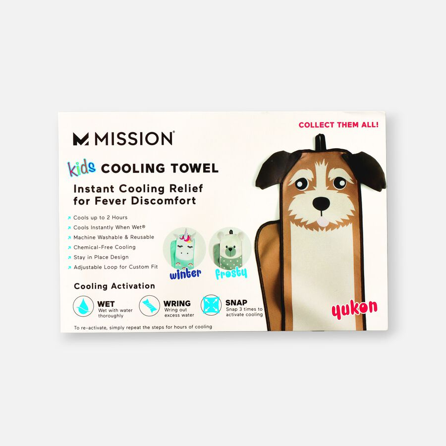 Mission Kid's Fever Relief Cooling Towel - Yukon The Puppy, , large image number 0
