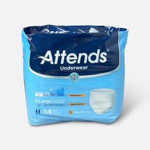 "Attends Adult Pull-On Extra Absorbency Protective Underwear X-Large 58"" - 68"" (Pack of 14)"