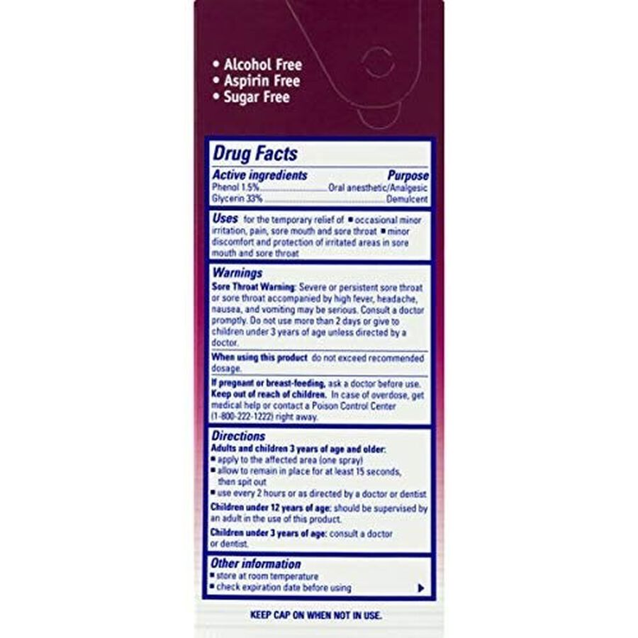 Chloraseptic Max, Wild Berries, Sore Throat Spray, 1 oz, , large image number 1