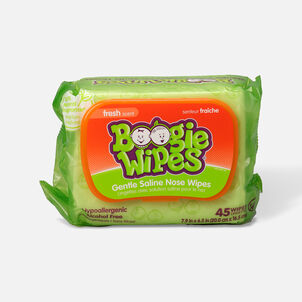 Boogie Wipes Saline Nose Wipes, 45 ea