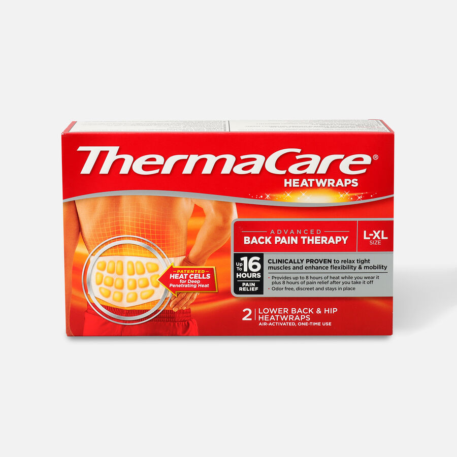 Thermacare Heat Wrap 8HR, Large/X-Large, 2 ct, , large image number 0