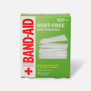 BAND-AID® Adhesive Bandages, Large Non-Stick Pads, 10 3-Inch x 4-Inch Pads