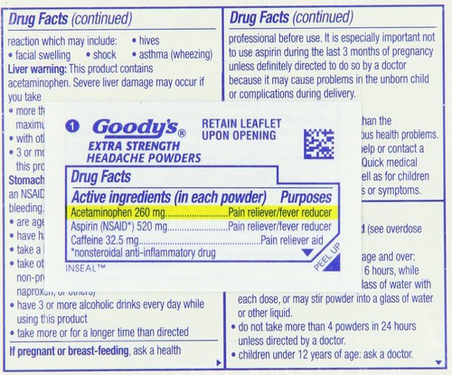 Goody's Extra Strength Headache Powder, 24 ct., , large image number 5