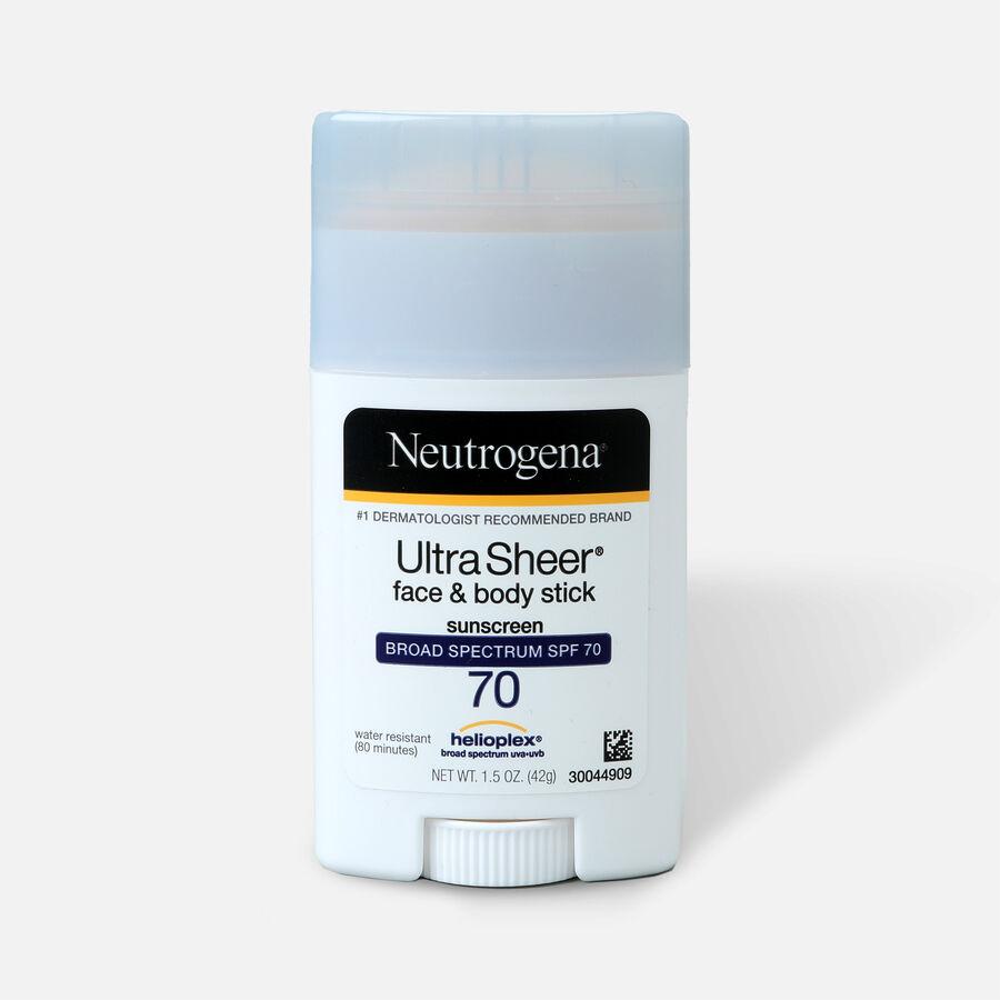 NEUTROGENA® ULTRA SHEER® Face & Body Stick Sunscreen Broad Spectrum SPF 70, 1.5 Oz, , large image number 0