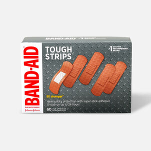 BAND-AID® TOUGH-STRIPS®Adhesive Bandages, 60 Count