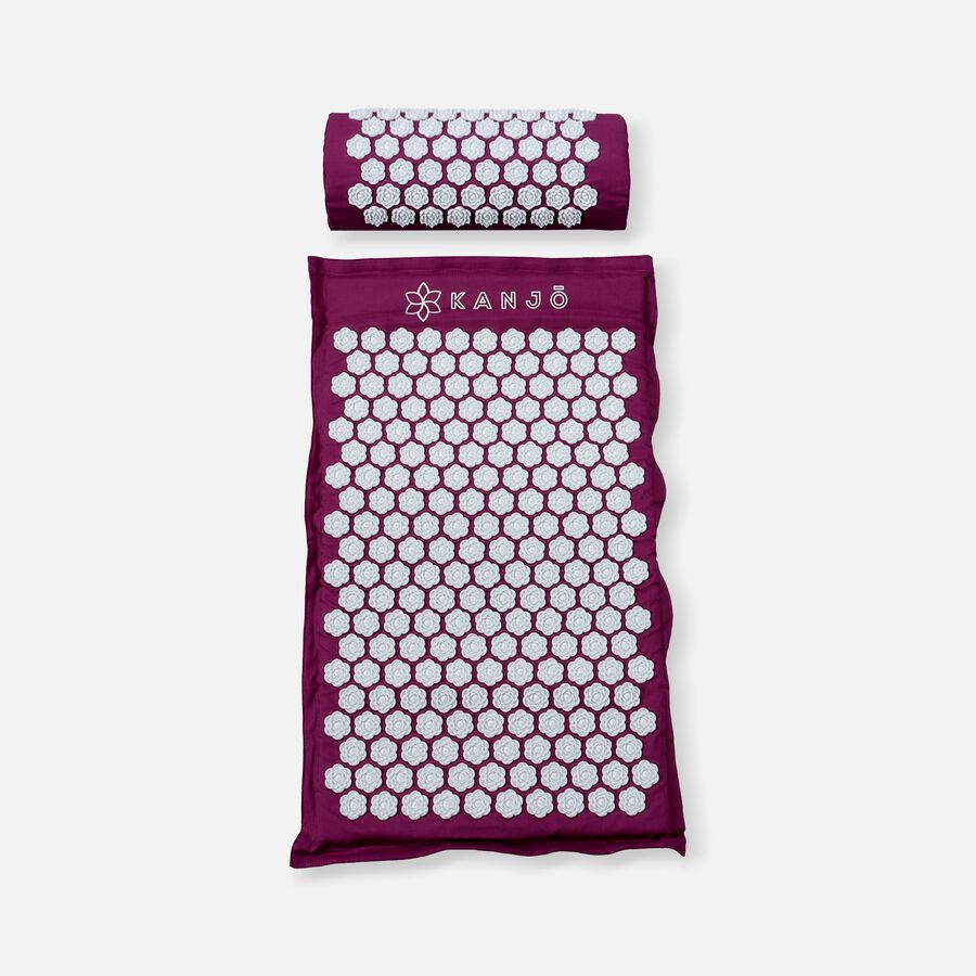 Kanjo Memory Acupressure Mat Set with Pillow, Amethyst, , large image number 0