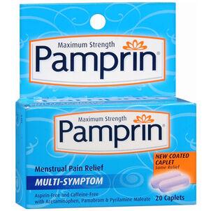 Pamprin Maximum Strength Multi-Symptom Menstrual Pain Relief - 20ct