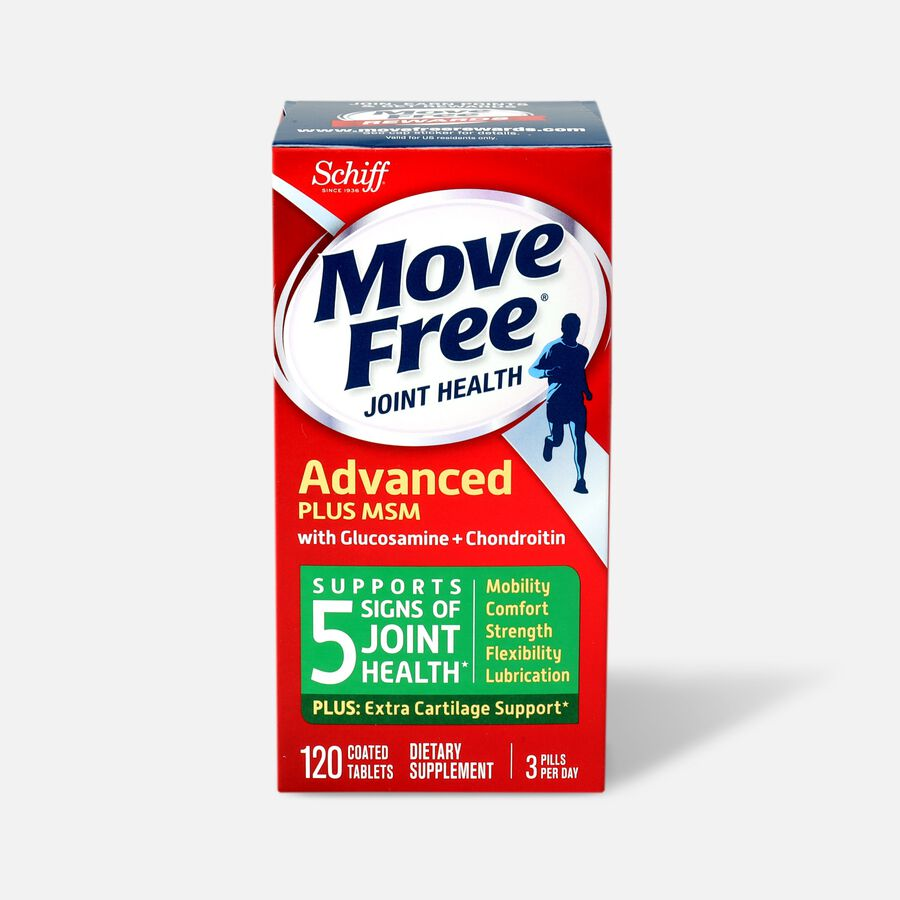 Schiff Move Free Advanced Plus MSM, 120 ct, , large image number 0