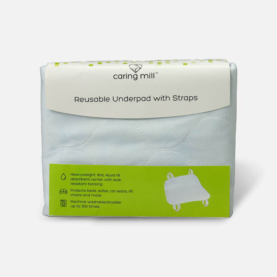 """Caring Mill™ Reusable Underpad 34"""" x 35""""  Underpad with Straps, , large image number 0"""