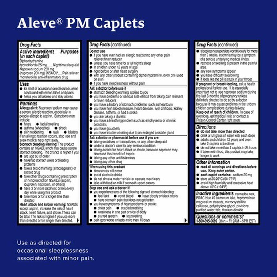 Aleve PM Caplets, Soft Grip Cap, 80ct, , large image number 4