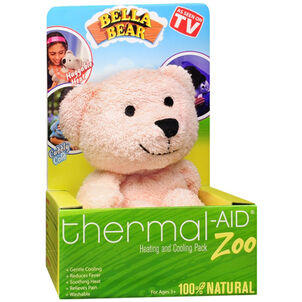 Thermal-Aid Zoo Pink Bear