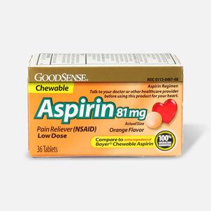 GoodSense® Aspirin 81 mg Low Dose Chewable Tablets Orange, 3/36 ct
